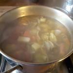 Zuppa di carciofi con le patate