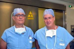 Prof. Andrea Landi e Prof. Domenico D'Avella Neurochirurghi